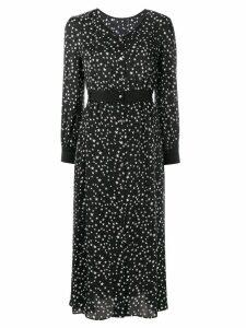Guild Prime star-print satin dress - Black