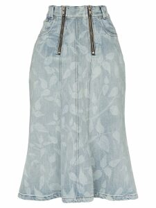 GmbH nettle print midi skirt - Blue