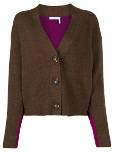 See By Chloé two tone button cardigan - Brown