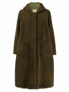 Forte Forte hooded fuzzy coat - Green