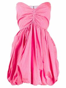 MSGM strapless balloon mini dress - Pink