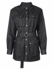 Ksubi D-ring belted shirt dress - Black