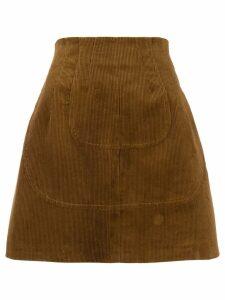 Nº21 A-line cord skirt - Brown