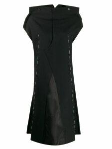 Maison Margiela stitch-detail shift dress - Black