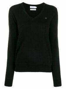 Calvin Klein v-neck knit sweater - Black