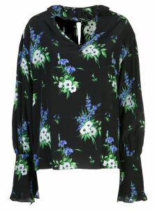 Les Reveries daffodil floral print blouse - Black