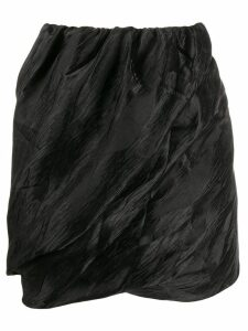 Ganni ruched mini skirt - Black
