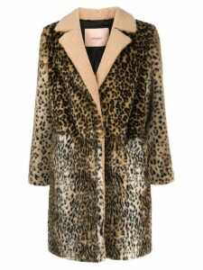 Twin-Set leopard print coat - Neutrals