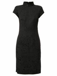 SHANGHAI TANG jacquard Qipao dress - Black