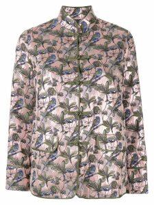 SHANGHAI TANG Bird & Floral Jacquard Chinese Jacket - Pink