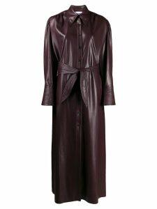 Nanushka vegan leather quilt dress - PURPLE