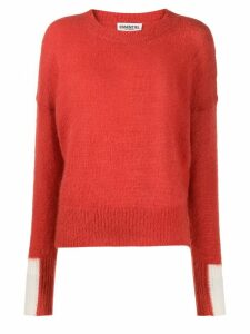 Essentiel Antwerp crew-neck knit sweater - ORANGE