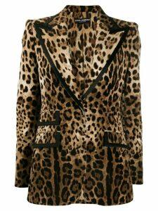 Dolce & Gabbana leopard pattern blazer - Brown