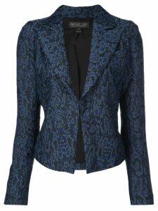 Rachel Zoe fitted jacquard-effect blazer - Blue