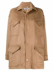 Katharine Hamnett London oversized buttoned coat - Brown