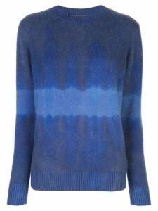 The Elder Statesman tie-dye long sleeve sweater - Blue