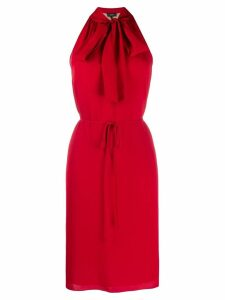 Theory halter scarf dress - Red