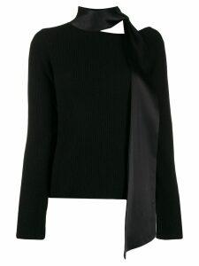 RtA scarf neck sweater - Black