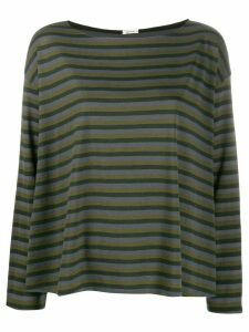 Apuntob striped pattern top - Green