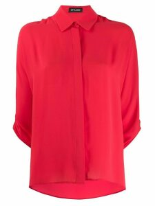 Styland ruched sleeve shirt - Red