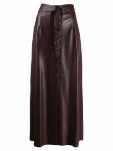 Nanushka high waisted midi skirt - Purple