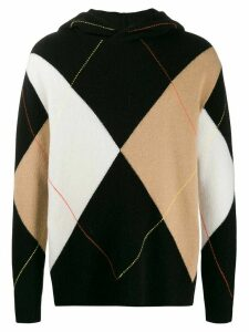 Pringle Of Scotland argyle hooded jumper - Black