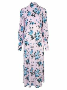 Les Reveries floral long-sleeve maxi dress - Pink