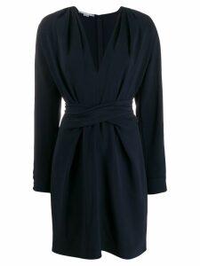Stella McCartney V-neck split-sleeve dress - Blue
