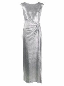 Lauren Ralph Lauren draped metallic sheen dress - SILVER
