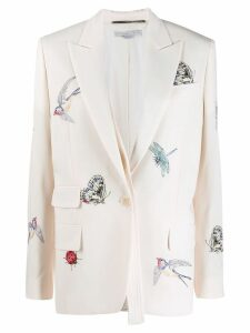 Stella McCartney bug embroidered blazer - White