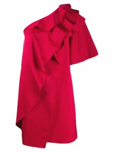 Paule Ka ruffled one-shoulder dress - Red