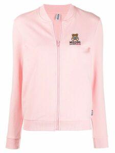 Moschino logo embroidered cardigan - Pink