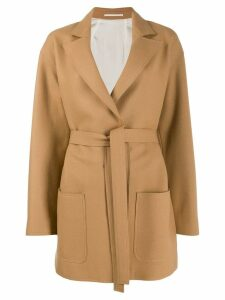 Golden Goose belted wool coat - NEUTRALS