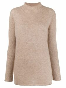 Agnona roll-neck jumper - Neutrals