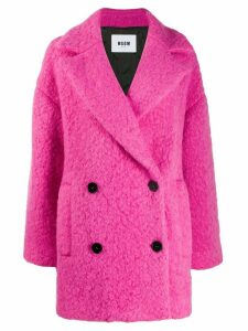 MSGM oversized double-breasted coat - PINK