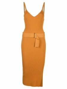 Nicholas asymmetric midi dress - Brown