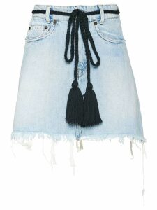 Miu Miu rope waist denim skirt - Blue