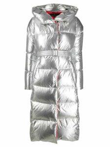 Nicole Benisti metallic padded coat - Silver