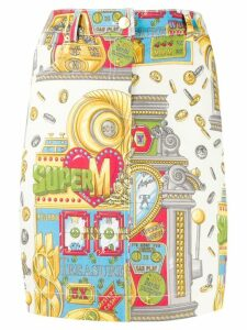 Moschino Slot Machine printed skirt - Neutrals