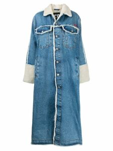 Diesel De-Valy denim long coat - Blue