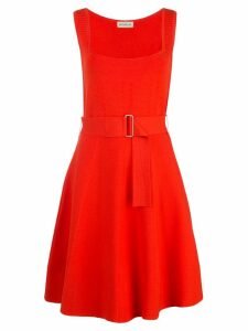 Nicholas sleeveless flared mini dress - Orange