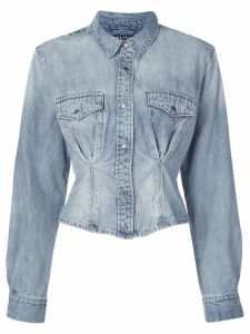 Ksubi ruched waist denim shirt - Blue
