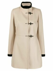 Fay Virginia three-hook coat - NEUTRALS