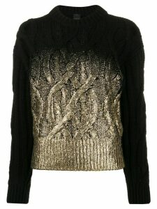 Pinko cable knit jumper - Black
