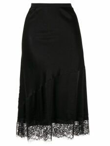 Gold Hawk lace detail skirt - Black