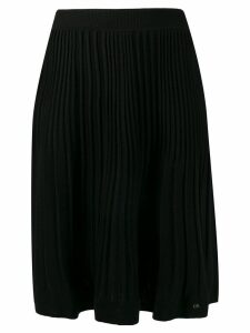 Calvin Klein pleated knit skirt - Black