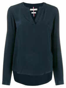 Tommy Hilfiger v-neck silk blouse - Blue