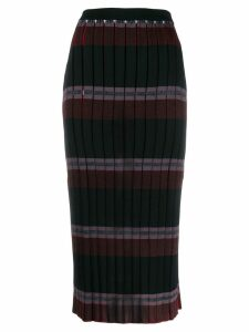 Marni pleated knitted skirt - Black