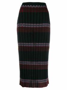 Marni pleated knitted skirt - Black