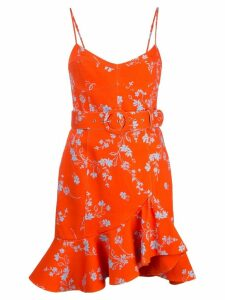 Nicholas floral ruffle-trim dress - Orange